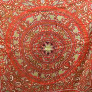 Halstuch, Klassisches Vintage Halstuch, Tuch aus Seide für Damen, Seidentuch, getragen, 1980 und 1990er Jahre, Midcentur Bild 8