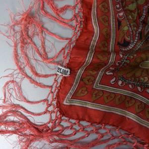 Halstuch, Klassisches Vintage Halstuch, Tuch aus Seide für Damen, Seidentuch, getragen, 1980 und 1990er Jahre, Midcentur Bild 9