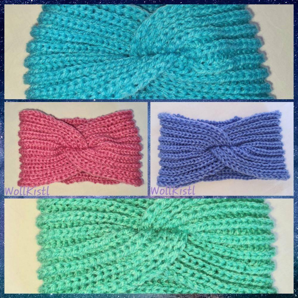 Kuschlige Stirnbänder in stylischer Knotenoptik, verschiedene Farben, Größe Unisex Damen / Teenager Bild 1