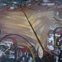 Zweiteiliges original abstraktes Gemälde Herz rot-schwarz | moderne Acrylmalerei Liebe | Wandbild Deko für Wohnzimmer |  Bild 2