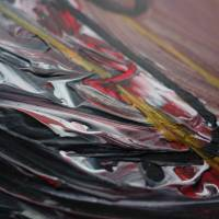 Zweiteiliges original abstraktes Gemälde Herz rot-schwarz | moderne Acrylmalerei Liebe | Wandbild Deko für Wohnzimmer |  Bild 4