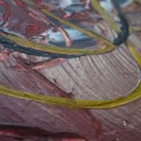Zweiteiliges original abstraktes Gemälde Herz rot-schwarz | moderne Acrylmalerei Liebe | Wandbild Deko für Wohnzimmer |  Bild 5