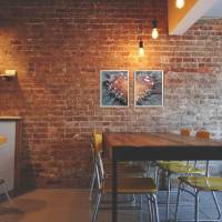 Zweiteiliges original abstraktes Gemälde Herz rot-schwarz | moderne Acrylmalerei Liebe | Wandbild Deko für Wohnzimmer |  Bild 6