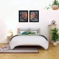 Zweiteiliges original abstraktes Gemälde Herz rot-schwarz | moderne Acrylmalerei Liebe | Wandbild Deko für Wohnzimmer |  Bild 8