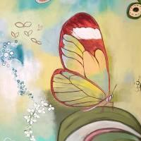 """Orchideenfenster"" 80 x 80 cm Acrylbild  Bild 4"