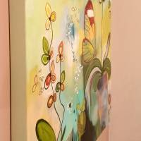 """Orchideenfenster"" 80 x 80 cm Acrylbild  Bild 5"