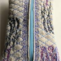 Leinen - TaTüTa - Taschentücher-Tasche für herkömmliche Papiertaschentücher - Tissue Box mit Monogramm 'M' Bild 1