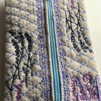 Leinen - TaTüTa - Taschentücher-Tasche für herkömmliche Papiertaschentücher - Tissue Box mit Monogramm 'M' Bild 5