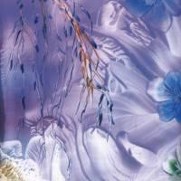 """Kunst–Postkarte - """"Blaue Blüten""""  Bild 1"""