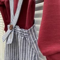 Latzhose / Trägerhose / Sommerhose -  Leinenmix Gr. 56 bis 98 in mehreren Farben erhältlich Bild 3