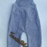 Latzhose / Trägerhose / Sommerhose -  Leinenmix Gr. 56 bis 98 in mehreren Farben erhältlich Bild 4