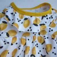 Kleinkind Bio Baumwolle Kleidchen Größe 56, Jersey Kleidchen, suße Zitronen Hain Jersey Kleid mit Body,  Bild 3