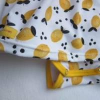 Kleinkind Bio Baumwolle Kleidchen Größe 56, Jersey Kleidchen, suße Zitronen Hain Jersey Kleid mit Body,  Bild 4