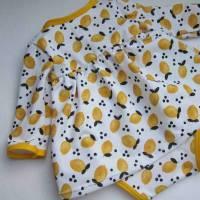 Kleinkind Bio Baumwolle Kleidchen Größe 56, Jersey Kleidchen, suße Zitronen Hain Jersey Kleid mit Body,  Bild 6