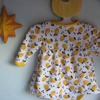 Kleinkind Bio Baumwolle Kleidchen Größe 56, Jersey Kleidchen, suße Zitronen Hain Jersey Kleid mit Body,  Bild 7