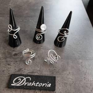DRAHTORIA dezente Ringe aus Aludraht Handarbeit Fingerring silber oder helles gold kupfer Ring Bild 1
