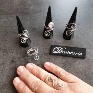 DRAHTORIA dezente Ringe aus Aludraht Handarbeit Fingerring silber oder helles gold kupfer Ring Bild 2