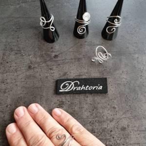 DRAHTORIA dezente Ringe aus Aludraht Handarbeit Fingerring silber oder helles gold kupfer Ring Bild 4