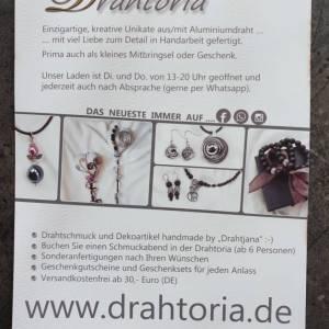 DRAHTORIA dezente Ringe aus Aludraht Handarbeit Fingerring silber oder helles gold kupfer Ring Bild 7