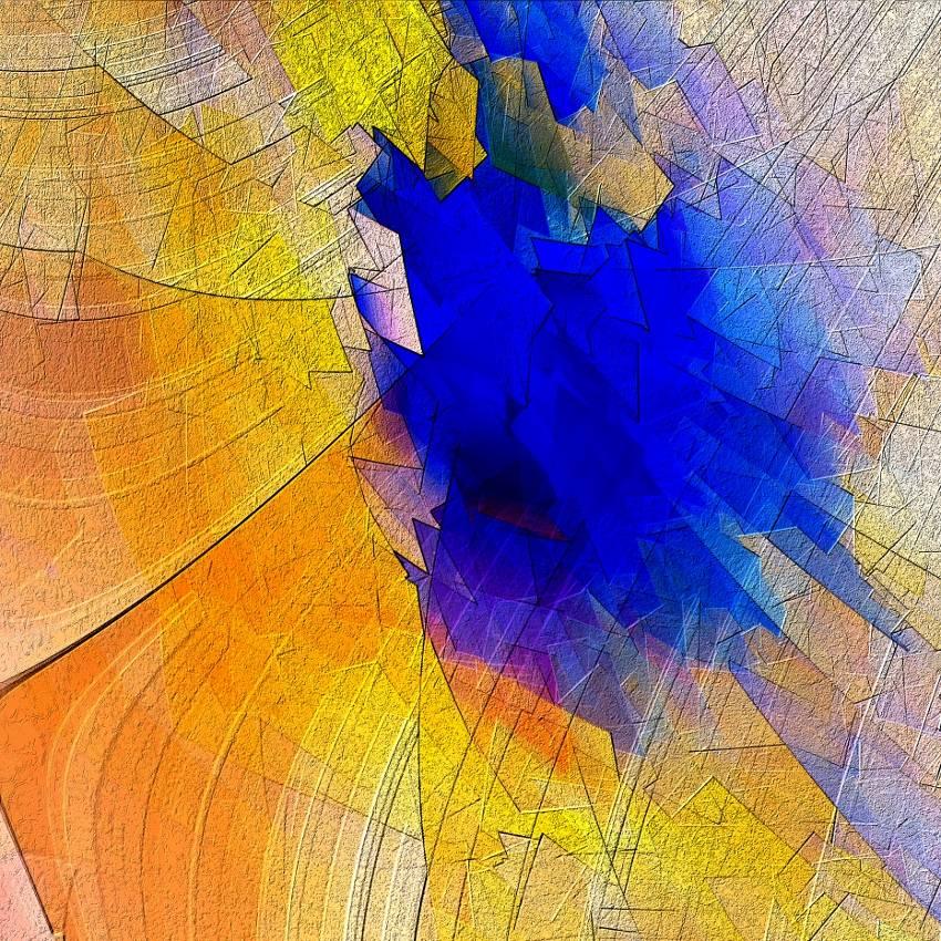 Frühlingsduft 2 - Digital-ART - Kunstwerk 1/10 – Design  Ulrike Kröll Bild 1