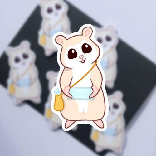 Hamster bringt Post Sticker - Süße Sticker - Tier Sticker