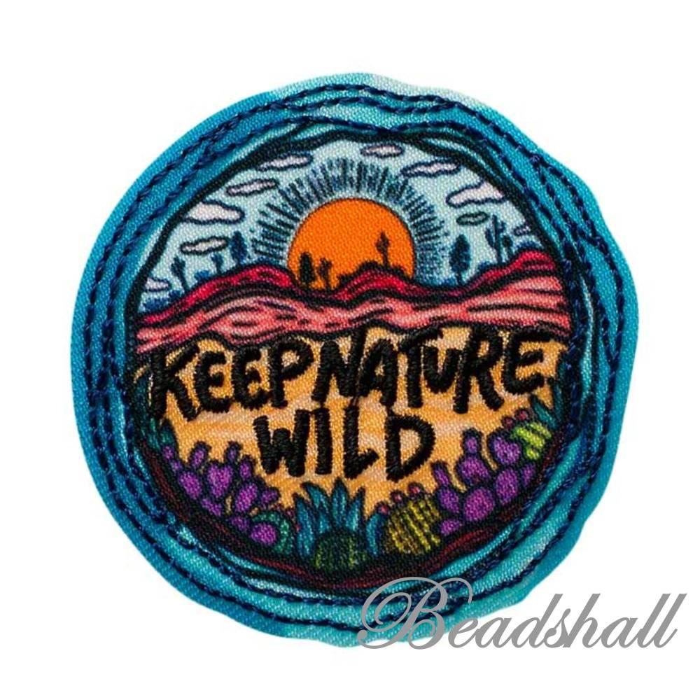 Bügelbild Keep Nature Wild Applikation Bild 1
