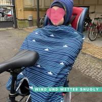 Schnittmuster - Kindersitz Beinwärmer, SNUGLY- Wind- und Wetterschutz für den Fahrradsitz Bild 2