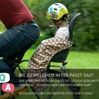 Schnittmuster - Kindersitz Beinwärmer, SNUGLY- Wind- und Wetterschutz für den Fahrradsitz Bild 8