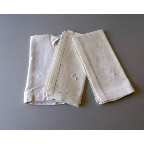 Vintage Taschentücher, alte Stofftaschentücher, benutzt, guter Vintage-Zustand, Taschentücher, 1960er Jahre, Baumwollsto