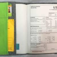 """personalisierte U-Heft Hülle """"kleiner Elefant"""" aus Filz,  Bild 2"""