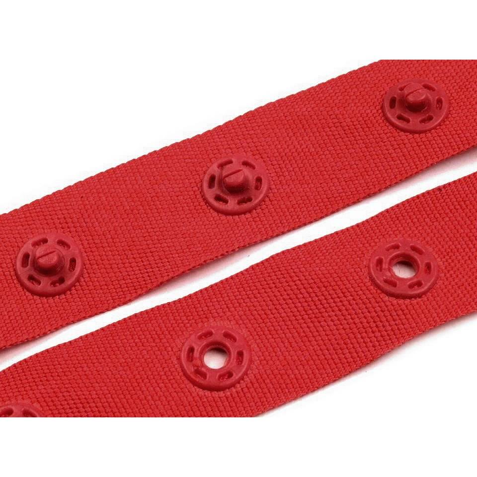 Druckknopfband Breite 18mm rot (1m/1,80 €) Bild 1