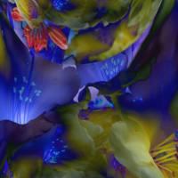 Blue lights  - Digital-ART - Kunstwerk 1/10 – Design  Ulrike Kröll Bild 1