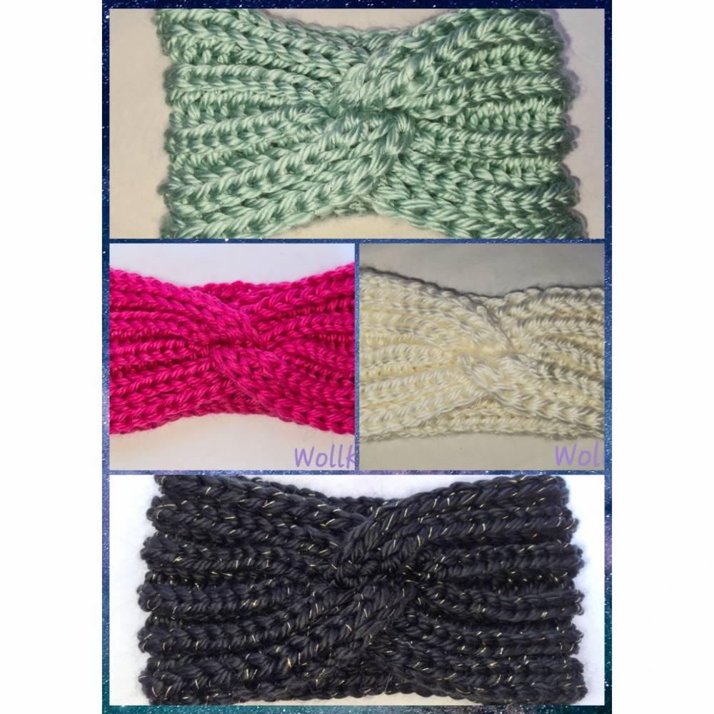 Kuschlige, extra dicke Stirnbänder in stylischer Knotenoptik, verschiedene Farben, Größe Unisex Damen / Teenager Bild 1