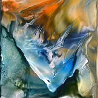 """Kunst–Postkarte - """"Feuer und Wasser""""  Bild 1"""