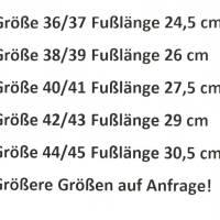 Hausschuhe aus 100% Wollfilz, grauer Kappe und Ledersohle  Bild 4