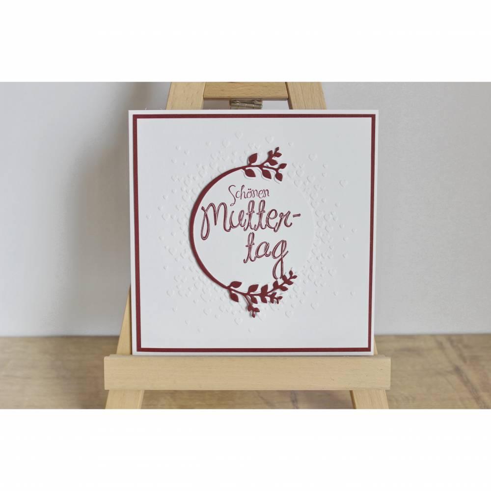 """Glückwunschkarte """"Schönen Muttertag"""" aus der Manufaktur Karla Bild 1"""