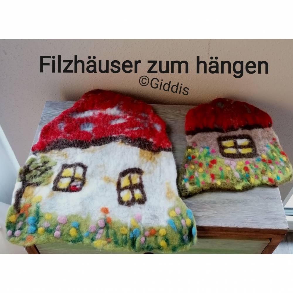 Filzhaus Wohndeko zum hängen Bild 1