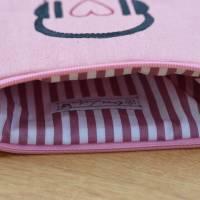 Headset/Kopfhörertasche  Reisetasche Urlaubstäschchen rosa Bild 3