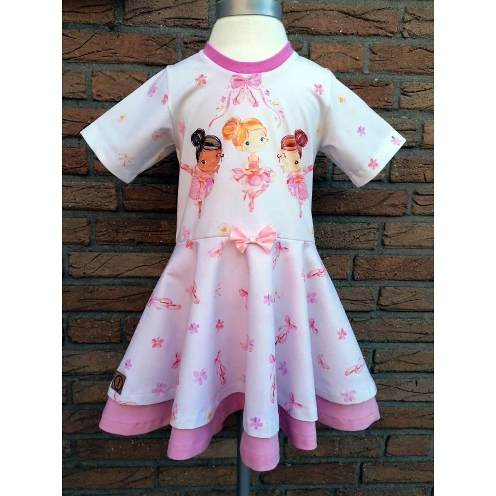 Gr. 110 Drehkleid - Kleid mit Tellerrock - Sommerkleid * Ballerina * Bild 1