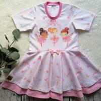 Gr. 110 Drehkleid - Kleid mit Tellerrock - Sommerkleid * Ballerina * Bild 2