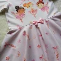 Gr. 110 Drehkleid - Kleid mit Tellerrock - Sommerkleid * Ballerina * Bild 3
