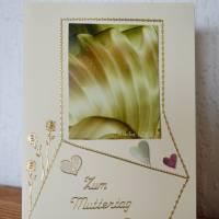 Muttertag – Grußkarte mit Malerei Bild 1