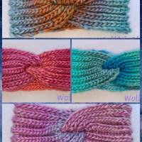 Kuschlige Stirnbänder mit Farbverlauf in stylischer Knotenoptik, verschiedene Farben, Größe Unisex Damen / Teenager Bild 1