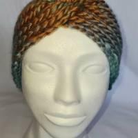 Kuschlige Stirnbänder mit Farbverlauf in stylischer Knotenoptik, verschiedene Farben, Größe Unisex Damen / Teenager Bild 2