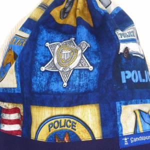 Kinder Turnbeutel Rucksack Kindergarten Beutel gefüttert *American Police* Bild 5