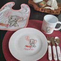 Kindergeschirr mit Elefant  Bild 1