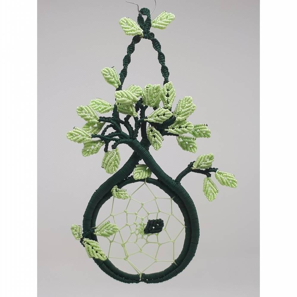 Baum des Lebens mit Traumfänger, Glücksbringer, Makramee, Unikat Bild 1