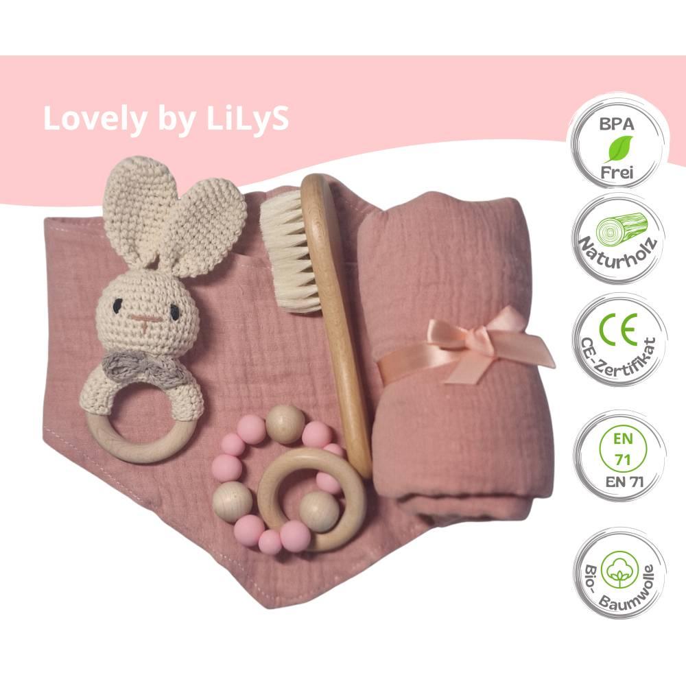 Geschenk zur Geburt, Baby Party Geschenk-Set, Geschenkebox für Baby Mädchen, Geschenk zur Taufe, Geschenk für Mädchen Bild 1