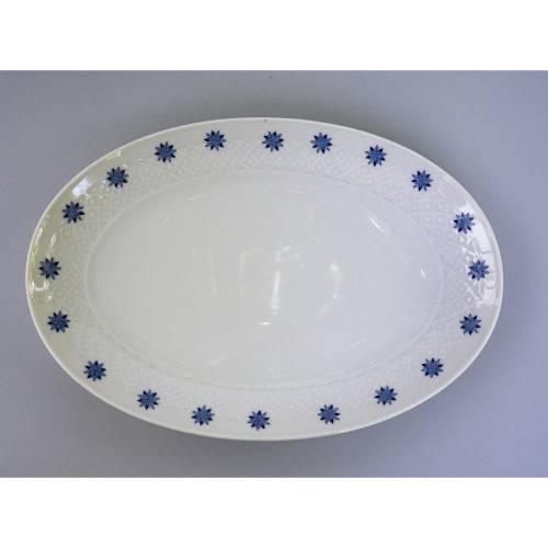 Servierplatte von Seltmann Weiden, Serie Annabell, Dekor mit blauen Blumen, Geschirr aus den 1970er Jahren, Essgeschirr,