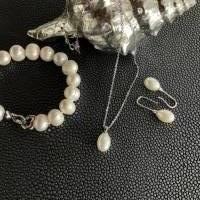 Echtes Perlenarmband mit Echt Silber Herz-Verschluss,Traumhaft schönes Perlenarmband mit Silber Herz,Perlenarmband Hochz Bild 7